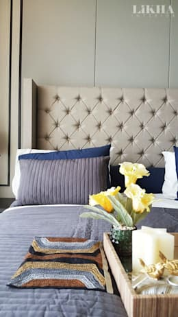 Ruang Tidur Utama (Detail): modern Bedroom by Likha Interior