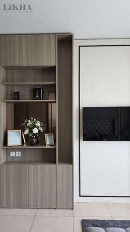 Walltreatment TV: modern Bedroom by Likha Interior