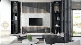 LIVING AREA: modern Living room by Enrich Artlife & Interior Design Sdn Bhd