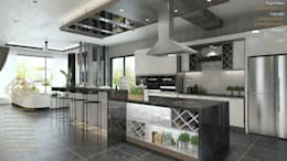 DINING WITH THE DRY KITCHEN: modern Kitchen by Enrich Artlife & Interior Design Sdn Bhd