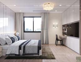 Thiết kế nội thất biệt thự Nine South - Tinh tế đến từng chi tiết nhỏ!:  Phòng ngủ by ICON INTERIOR