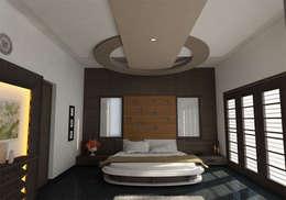 INTERIOR OF MASTERBEDROOM: classic Bedroom by Monoceros Interarch Solutions