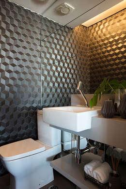 Lavabo Moderno: Banheiros modernos por Semíramis Alice Arquitetura & Design
