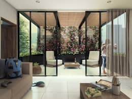Terraza Casa El Álamo 115: Casas de estilo moderno por Grupo PAAR Arquitectos