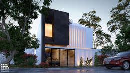 "RESIDENCIA "" LOMAS DEL VALLE"": Casas de estilo moderno por 3h arquitectos"