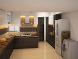 SKYGOLF: modern Kitchen by smstudio