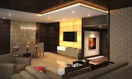 SKYGOLF: modern Living room by smstudio