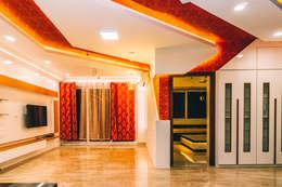 Living Room - Origami Spaces(Origamispaces.com): modern Living room by Origami Space Design