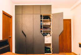 Designer Bedroom Wardrobes - Origami Spaces(Origamispaces.com): modern Bedroom by Origami Space Design