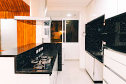 Acrylic Kitchen Soft Close Shutters - Origami Spaces(Origamispaces.com) :  Kitchen units by Origami Space Design