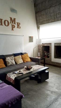 Casa A&P: Livings de estilo moderno por Módulo 3 arquitectura