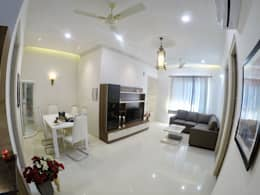 Villa in New Chandigarh Near Eco City: modern Living room by Kapilaz Space Planners & Interior Designer