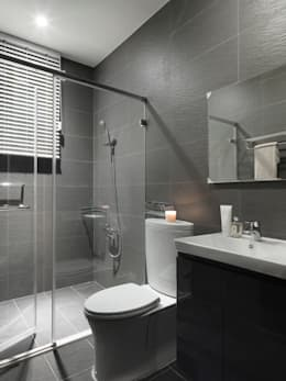Under L:  浴室 by 夏沐森山設計整合