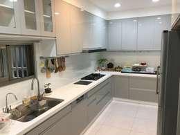五股中興路設計案 整體穿透 提升豪華價值:  廚房 by 捷士空間設計