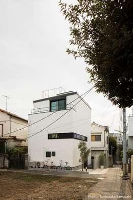 外観: 石川淳建築設計事務所が手掛けた一戸建て住宅です。