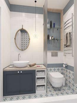 Неоклассика с элементами прованса : Ванные комнаты в . Автор – design4y