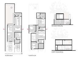 Proyecto: Casas unifamiliares de estilo  por Grupo PAAR Arquitectos