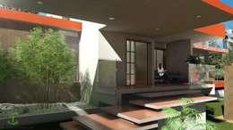 Fachada y entrada: Villas de estilo  por Eutopia Arquitectura