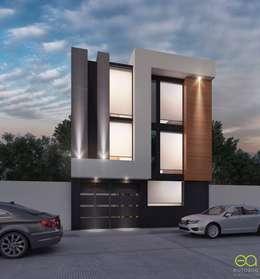 Fachada moderna: Bungalows de estilo  por Eutopia Arquitectura