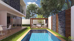 Alberca con jardín: Albercas de jardín de estilo  por Eutopia Arquitectura