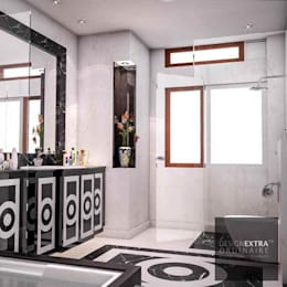 Master Bathroom - Villa in Manipur: colonial Bathroom by Design Extraordinaire
