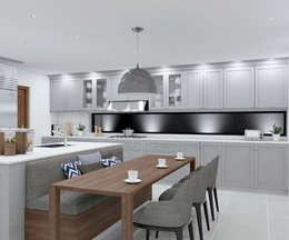 SANDTON KITCHEN - A social space :  Built-in kitchens by Linken Designs