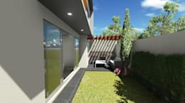 CASA GL : Jardines de estilo moderno por Estudio CALLI