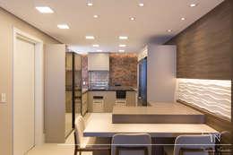cozinha gourmet: Cozinhas embutidas  por Taciana Nakalski arquitetura e interiores