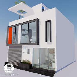 CASA 100: Casas de estilo moderno por Estudio CALLI