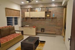 CONTEMPORARY & ELEGANT FLAT: modern Living room by Vdezin Interiors
