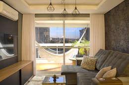 APARTAMENTO SN: Salas de estar modernas por SPATIO ARQUITETURA E URBANISMO