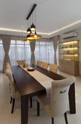 Residence No.1 at Panache, chennai: modern Dining room by Synergy Architecture and Interiors