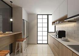 مطبخ تنفيذ Verde Design Lab
