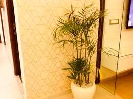 Residence @ Ireo Uptown Gurgaon:  Corridor, hallway & stairs  by INTROSPECS