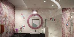 Eco Friendly Flat Interiors in Kerala: asian Bathroom by Monnaie Interiors Pvt Ltd