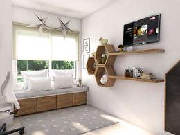 Dormitorios infantiles de estilo escandinavo por Bhavana