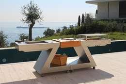 Garden  تنفيذ ZED EXPERIENCE - indoor & outdoor kitchen