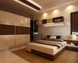 Fluence: modern Bedroom by Archivite Architecture