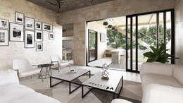 SALA: Salas de estilo moderno por Mouret Arquitectura