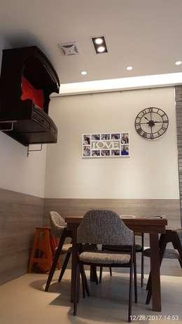 嘉義朴子T公館-自地自建/原地重建:  客廳 by 懷謙建設有限公司