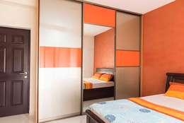 Keerthi residence: modern Dressing room by Designasm Studio