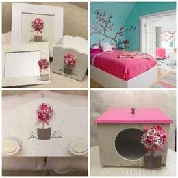 Conjunto para cuarto nena: Dormitorios de estilo ecléctico por ANADECO