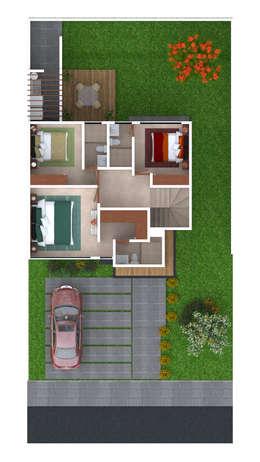 Planta Alta: Casas ecológicas de estilo  por iQbit, SA de CV