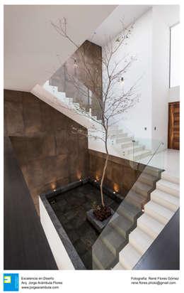 Casa Zotero: Escaleras de estilo  por Excelencia en Diseño
