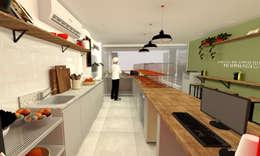 Forneria de pizza: Espaços gastronômicos  por Arquiteca Projetos Afetivos
