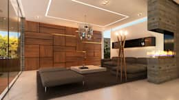 Casa Imozulu CDMX: Salas de estilo moderno por Besana Studio