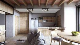 Prototipo 3: Cocinas equipadas de estilo  por Mouret Arquitectura
