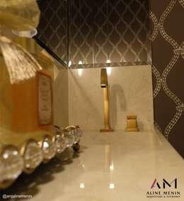 Lavabo: Banheiros clássicos por Aline Menin Arquitetura