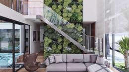 CASA ILO 2018: Salas / recibidores de estilo minimalista por TECTONICA STUDIO SAC