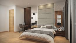 Subang Parkhomes: tropical Bedroom by Yucas Design & Build Sdn. Bhd.